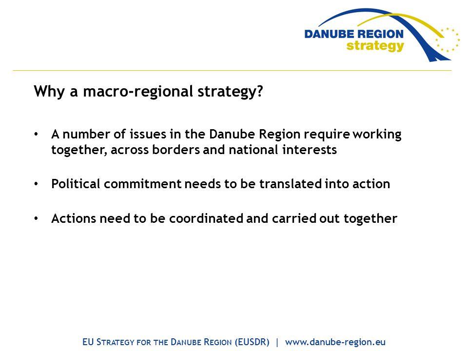 Why a macro-regional strategy.