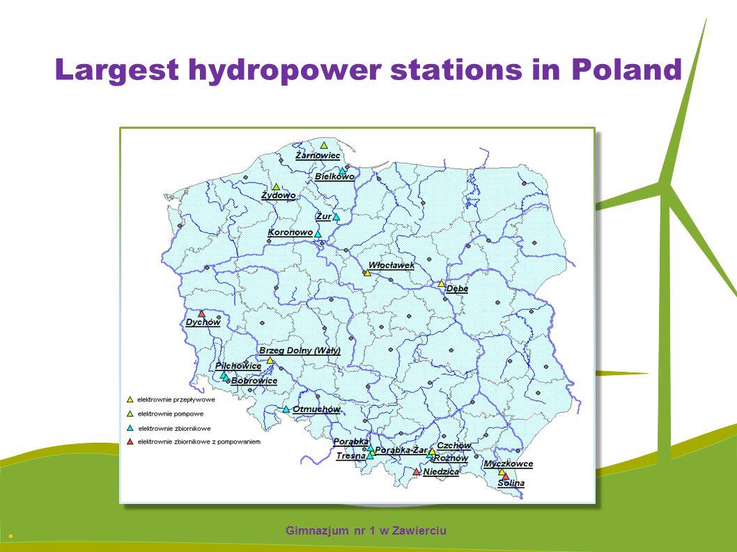 . Largest hydropower stations in Poland Gimnazjum nr 1 w Zawierciu