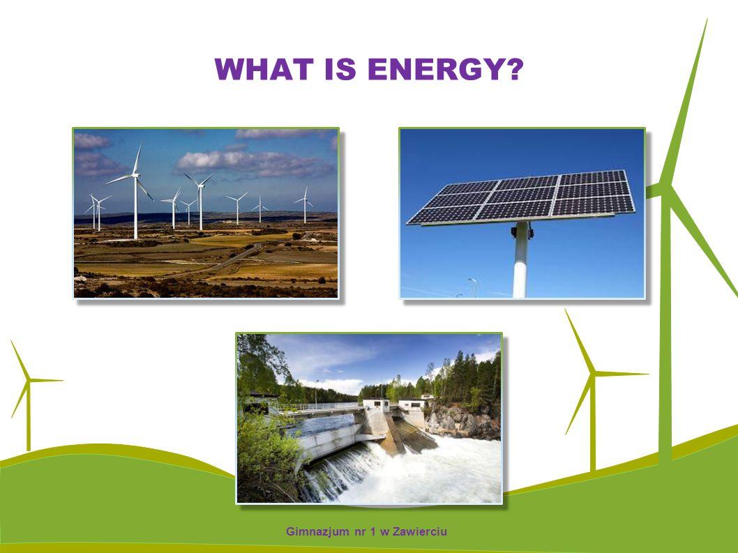 WHAT IS ENERGY? Gimnazjum nr 1 w Zawierciu