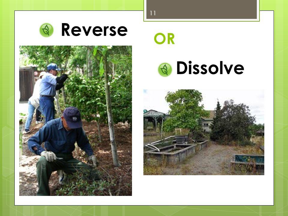 Reverse Dissolve OR 11