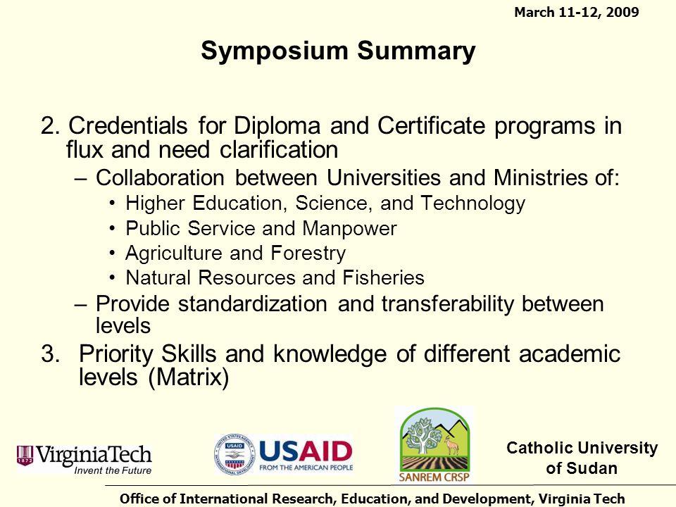 Symposium Summary 2.