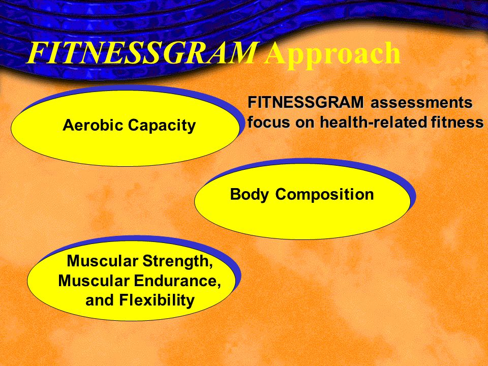 FITNESSGRAM Approach Needs Improvement Healthy Fitness Zone The FITNESSGRAM report prints out an individualized report that evaluates a childs personal level of fitness compared against the established health standard, the Healthy Fitness Zone.