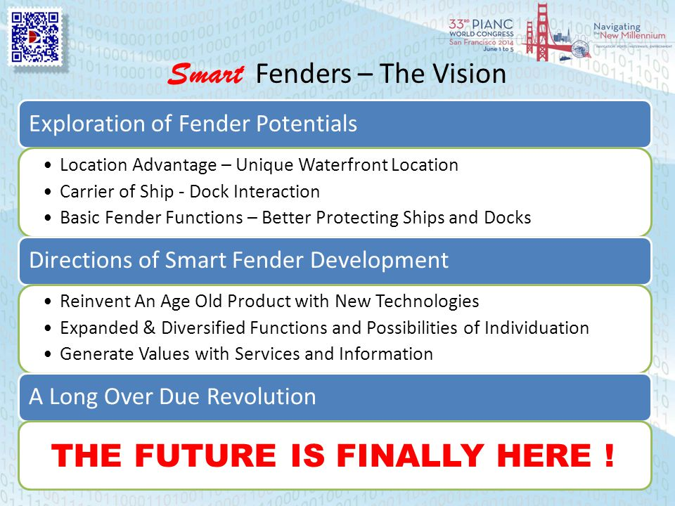 Smart Fenders – The Vision Exploration of Fender Potentials Location Advantage – Unique Waterfront Location Carrier of Ship - Dock Interaction Basic F