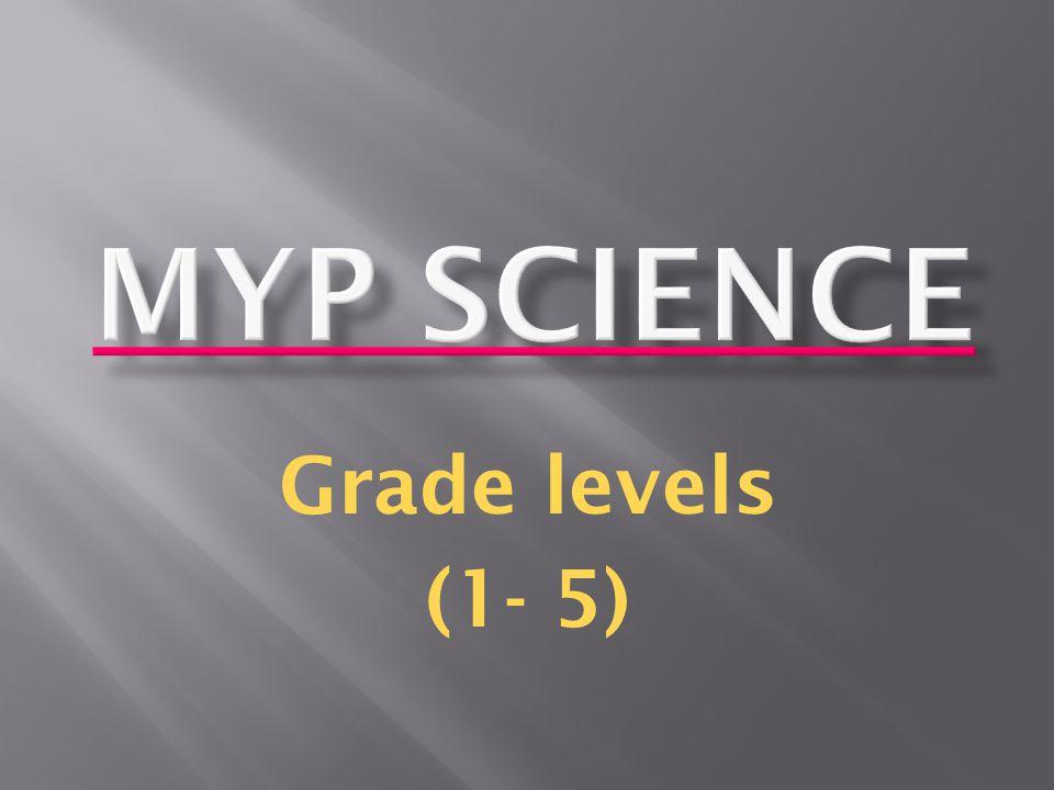 Grade levels (1- 5)