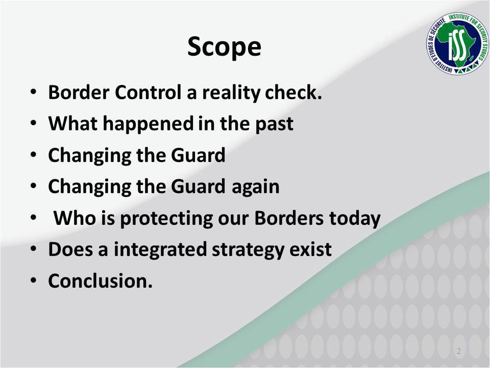 Scope Border Control a reality check.