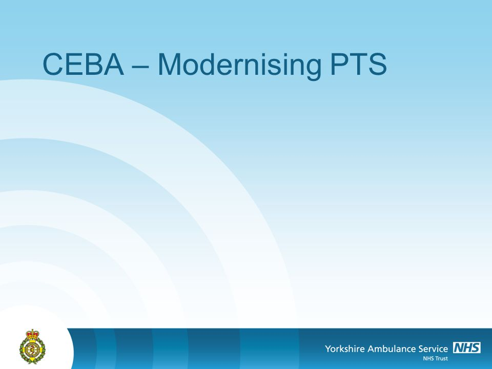 CEBA – Modernising PTS