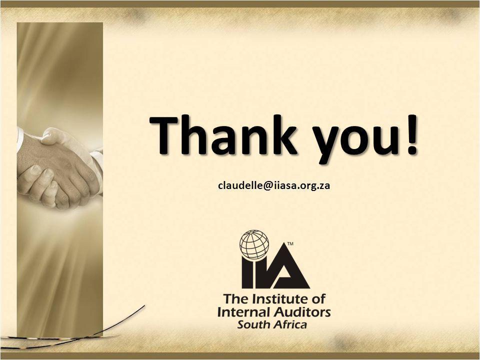 Thank you! claudelle@iiasa.org.za