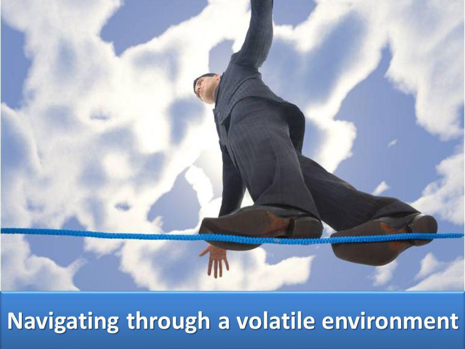 Navigating through a volatile environment