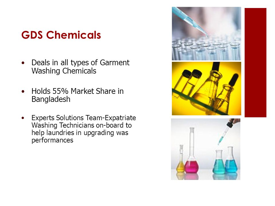 GDS Chemicals Deals in all types of Garment Washing Chemicals Holds 55% Market Share in Bangladesh Experts Solutions Team-Expatriate Washing Technicia