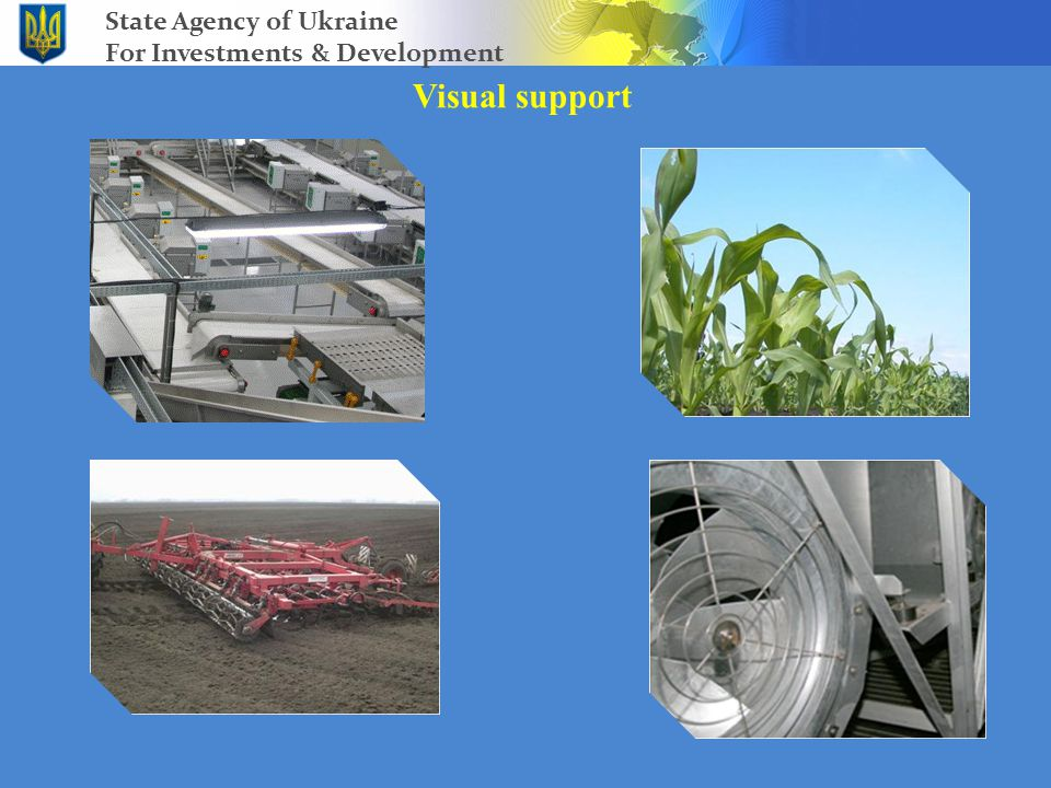 Visual support State Agency of Ukraine For Investments & Development