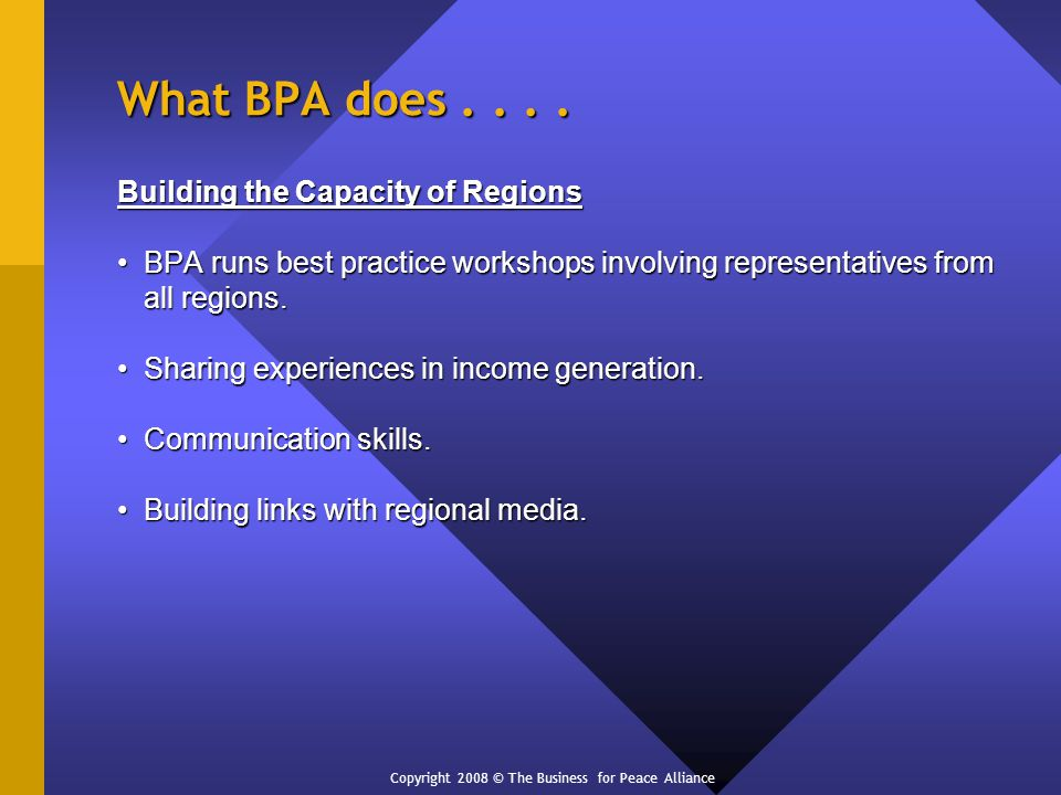 What BPA does....