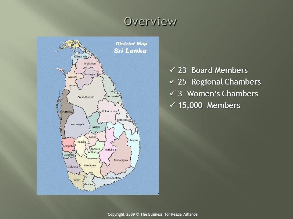 23 Board Members 23 Board Members 25 Regional Chambers 25 Regional Chambers 3 Womens Chambers 3 Womens Chambers 15,000 Members 15,000 Members