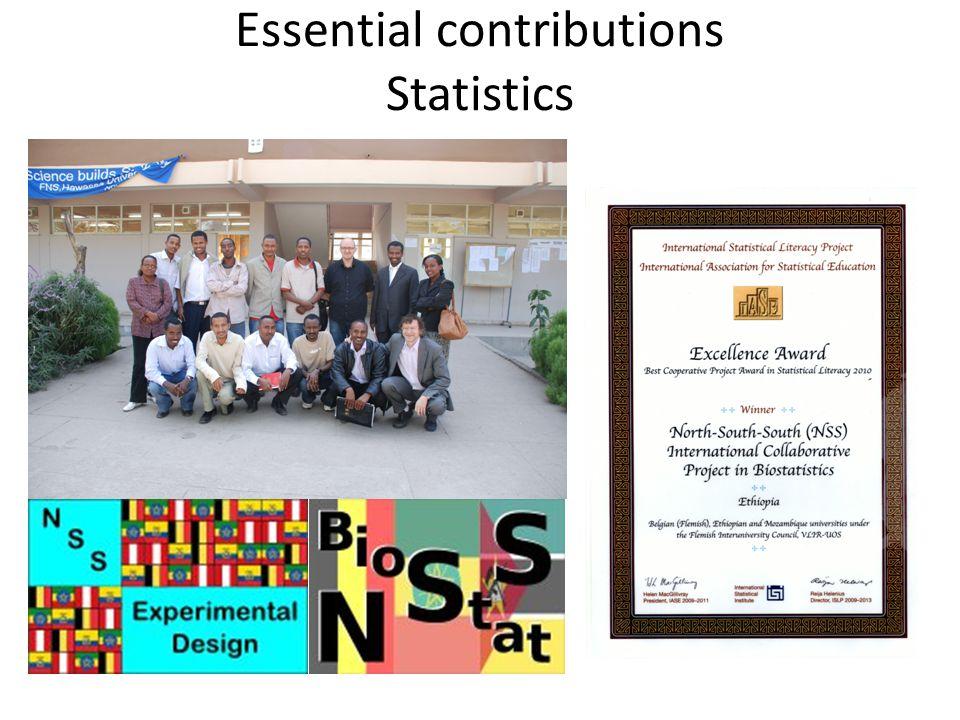 Essential contributions Statistics