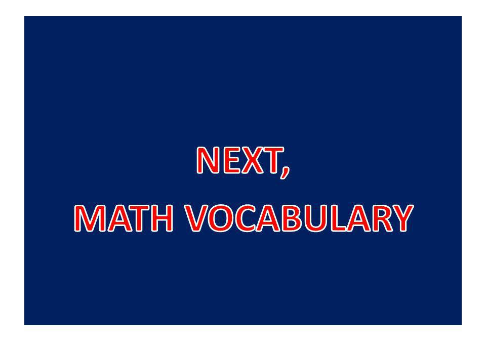 11/28/12 71 Math Vocabulary triangle – a polygon with 3 sides and 3 vertices.