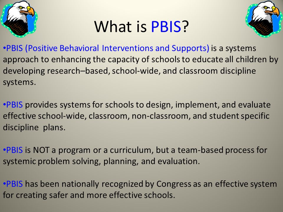 What is PBIS.