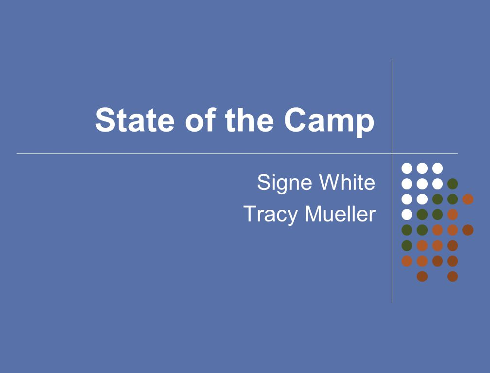 State of the Camp Signe White Tracy Mueller
