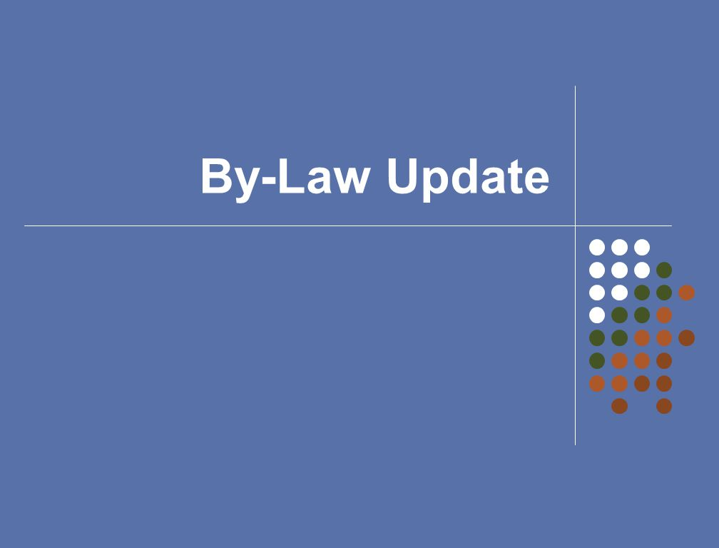 By-Law Update