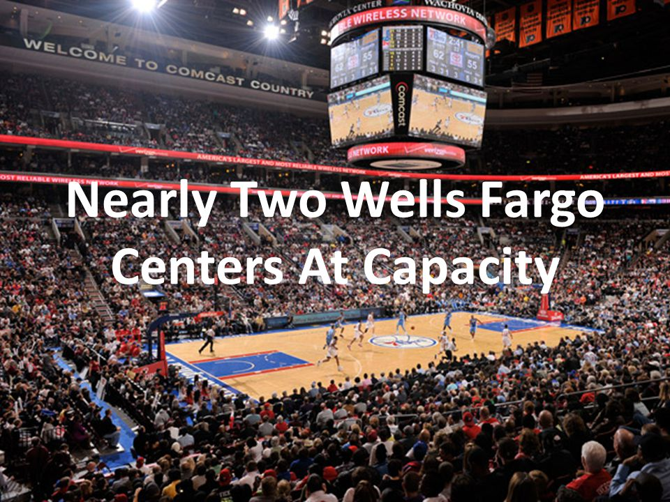 Nearly Two Wells Fargo Centers At Capacity