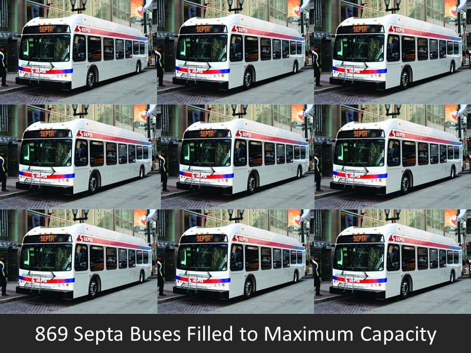 869 Septa Buses Filled to Maximum Capacity