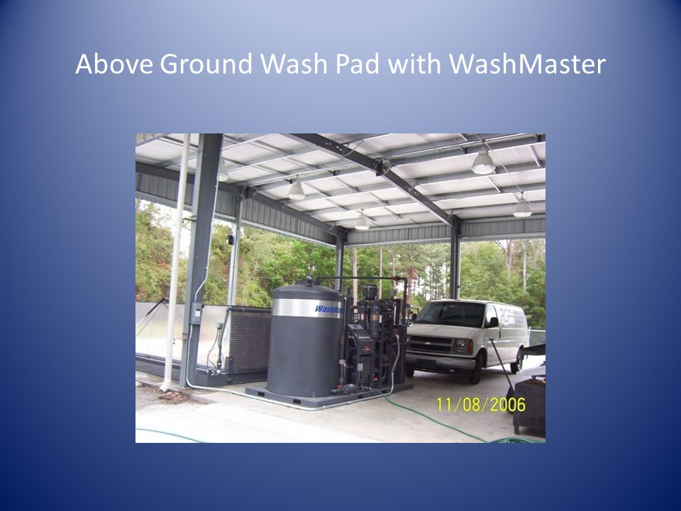 Above Ground Wash Pad with WashMaster
