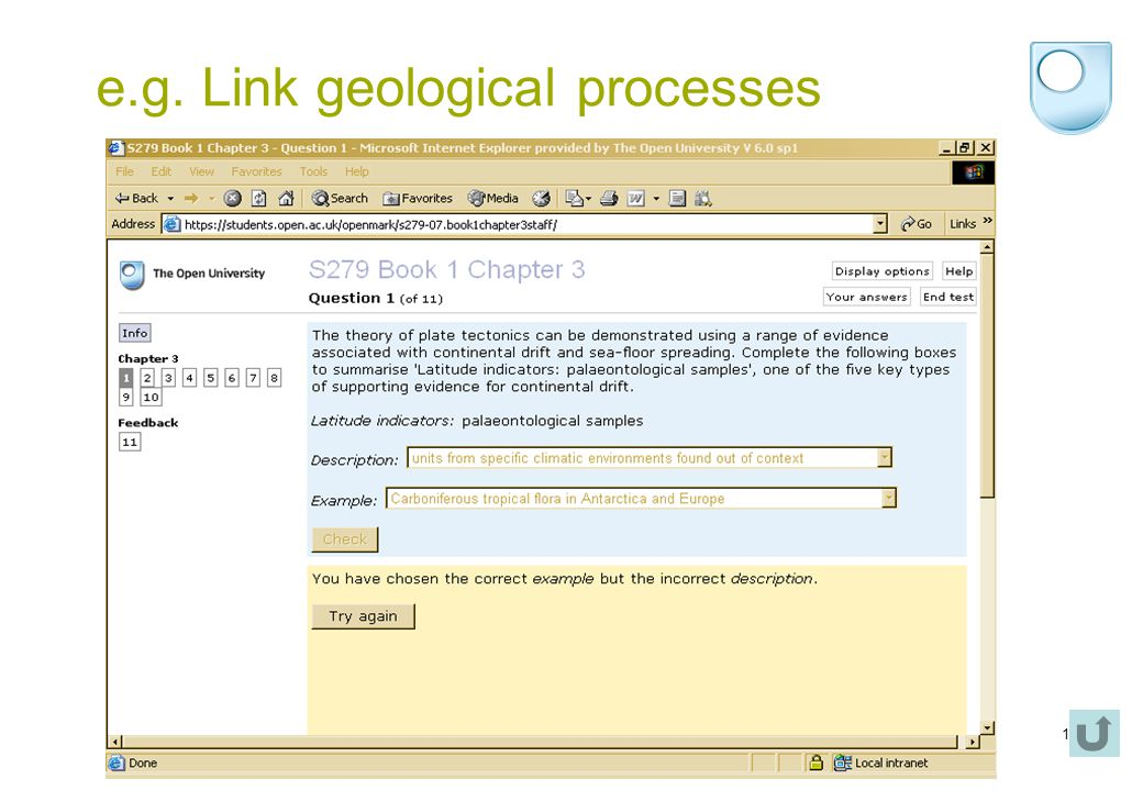 12 e.g. Link geological processes