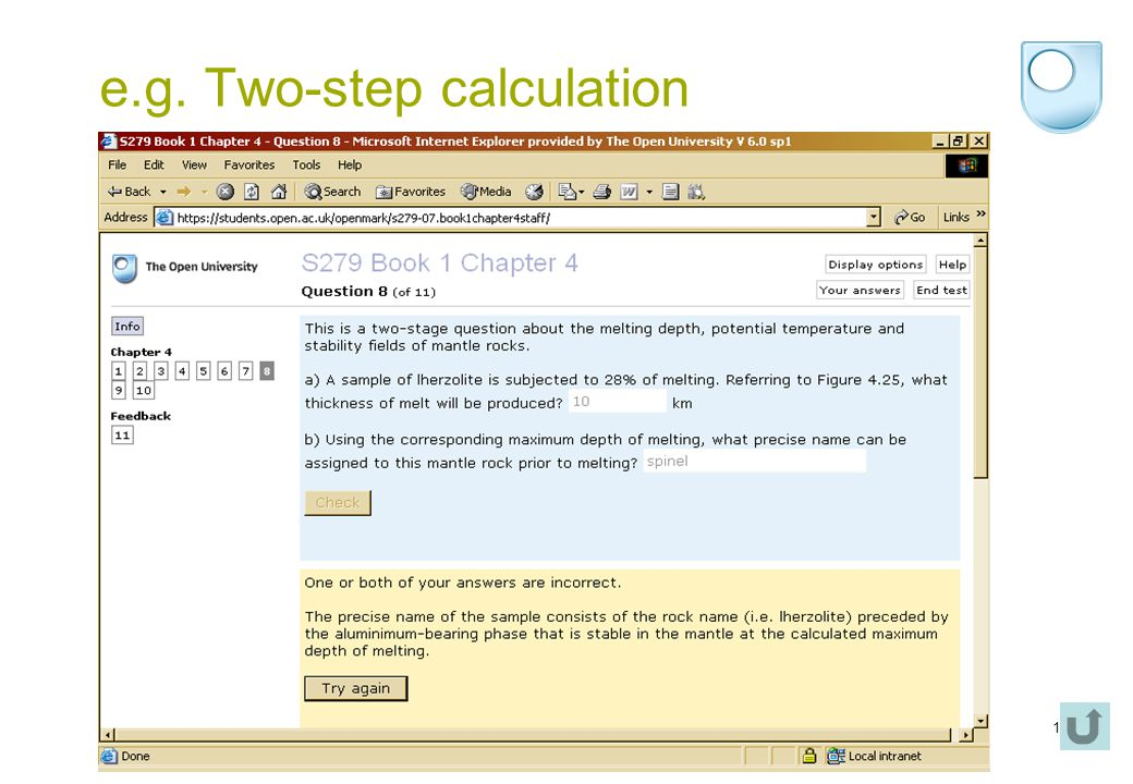 14 e.g. Two-step calculation