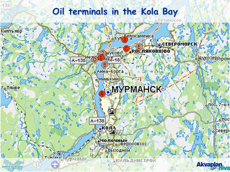 © www.akvaplan.niva.no A B 2 3 C D 1 E Oil terminals in the Kola Bay