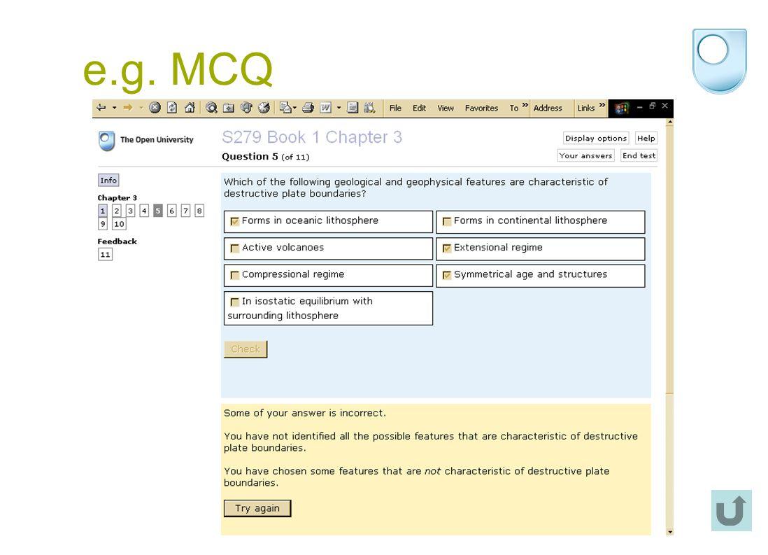e.g. MCQ