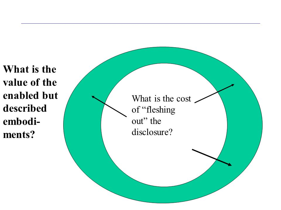 What is the cost of fleshing out the disclosure.