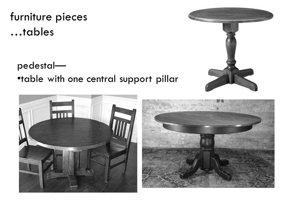 pedestal table with one central support pillar furniture pieces …tables