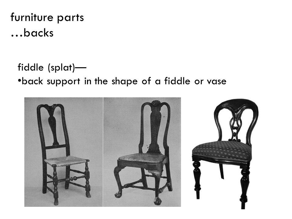 fiddle (splat) back support in the shape of a fiddle or vase furniture parts …backs