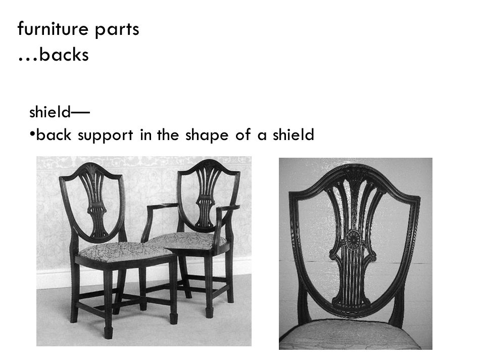 shield back support in the shape of a shield furniture parts …backs