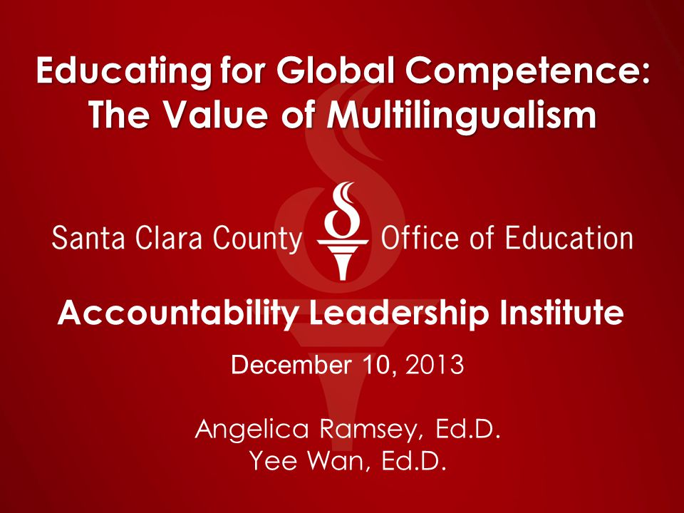 A Reflection… From a personal perspective… What are your reflections about the urgency to build biliterate and multilingual programs as part of global competence.