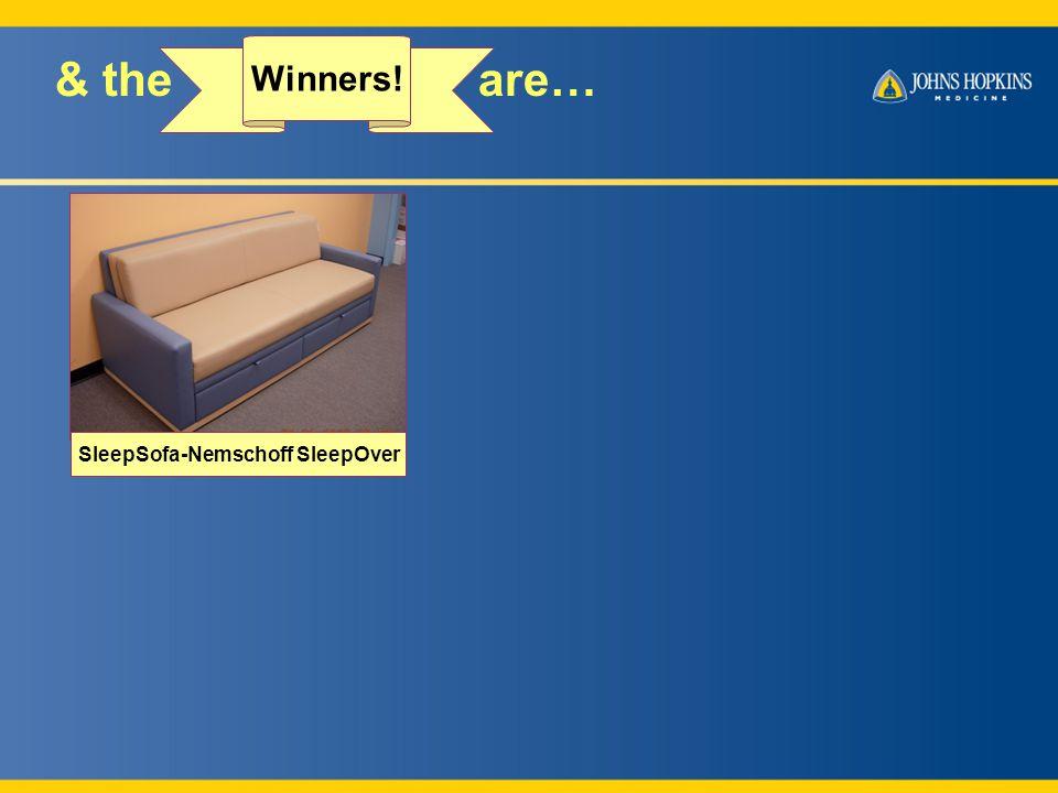 & the are… Winners! SleepSofa-Nemschoff SleepOver