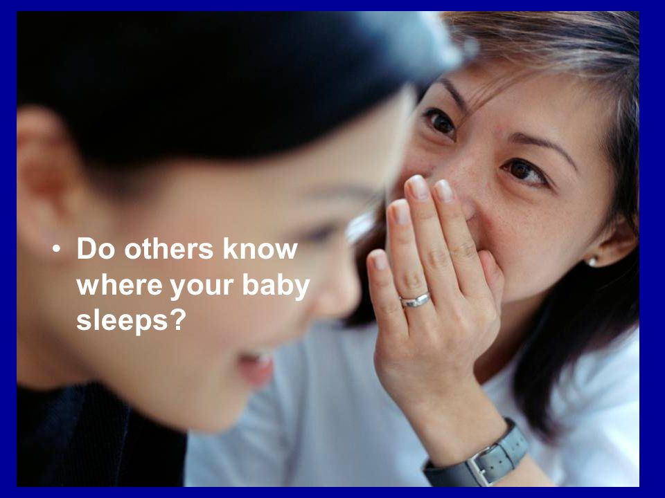 Do others know where your baby sleeps?