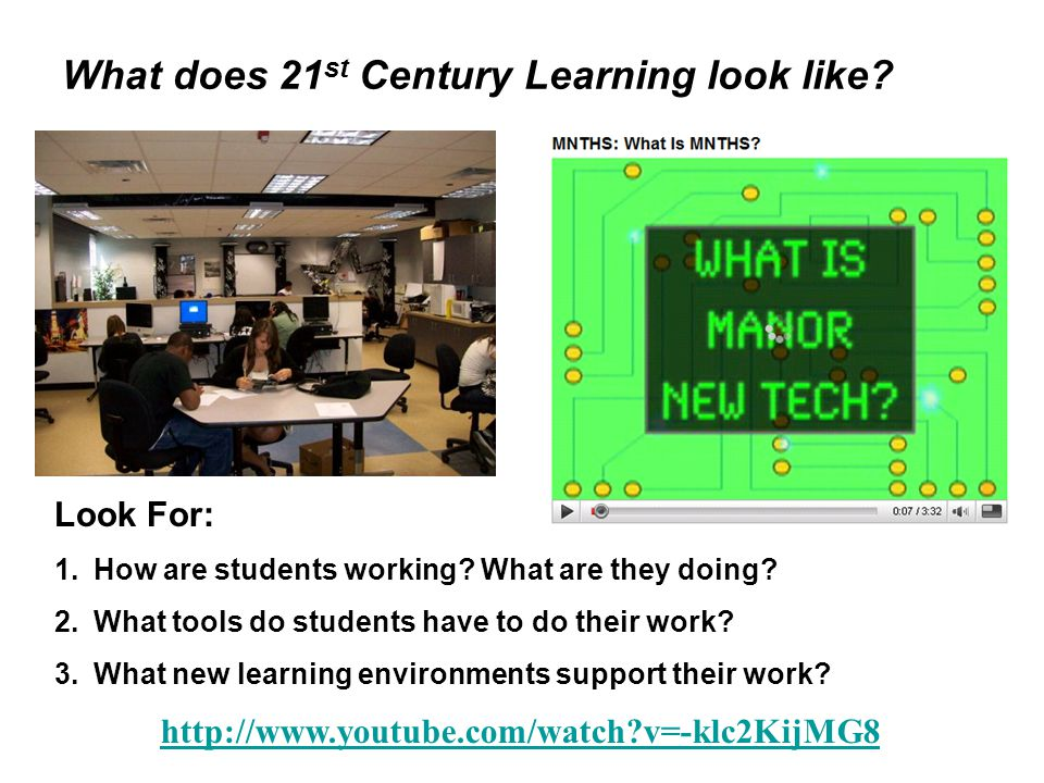 What does 21 st Century Learning look like.