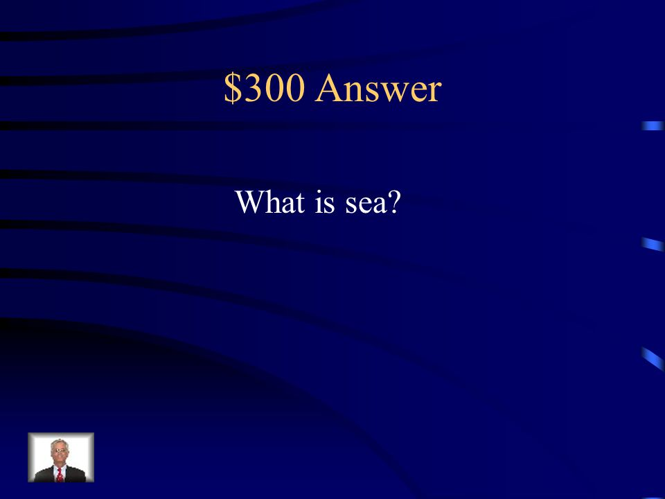 $300 Question Choose a homophone for the word see. look saw sea see