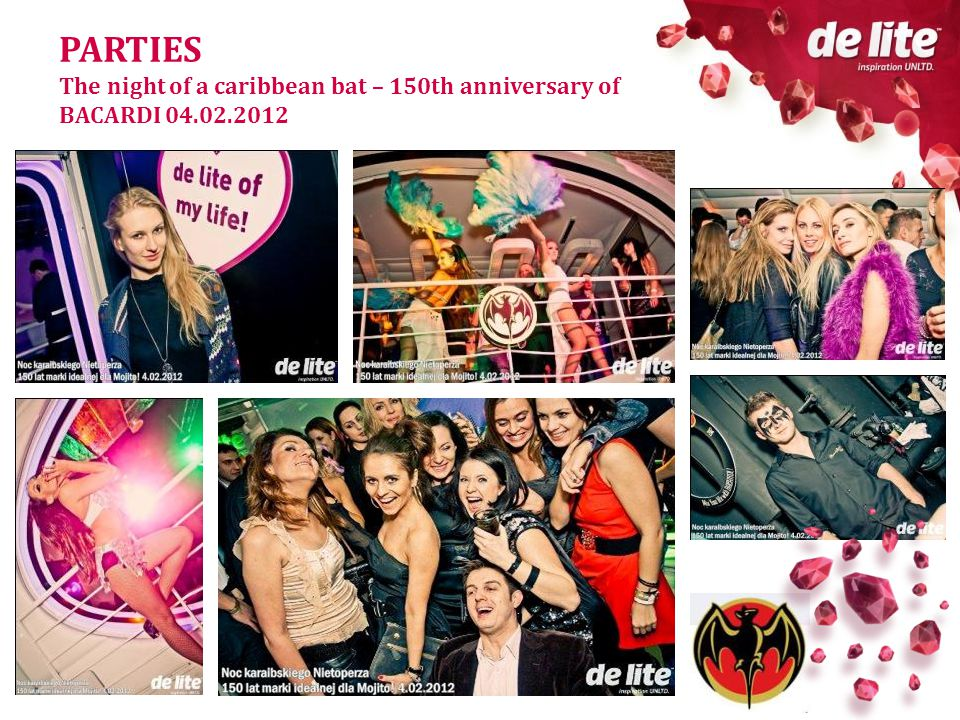 PARTIES The night of a caribbean bat – 150th anniversary of BACARDI 04.02.2012