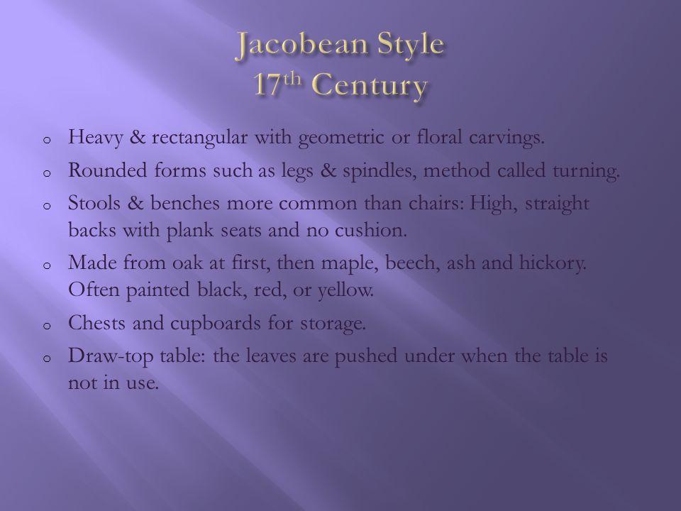 Jacobean Chair Jacobean Table Jacobean Sideboard