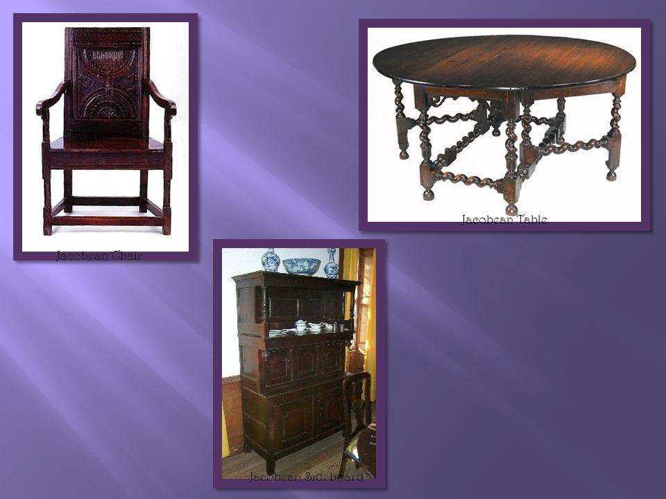 o Dutch & French influenced.o Chairs w/curved backs & woven seats.