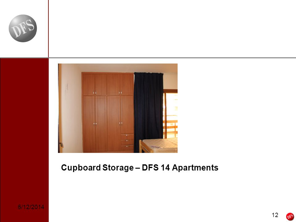 12 - 12 - Cupboard Storage – DFS 14 Apartments 6/12/2014