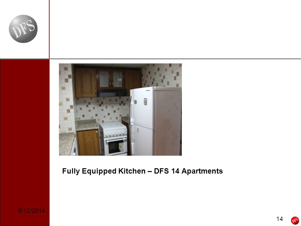 14 - 14 - Fully Equipped Kitchen – DFS 14 Apartments 6/12/2014