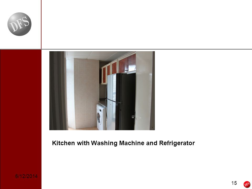 15 - 15 - Kitchen with Washing Machine and Refrigerator 6/12/2014