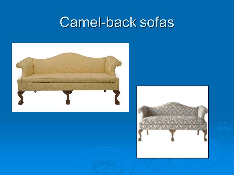 Camel-back sofas