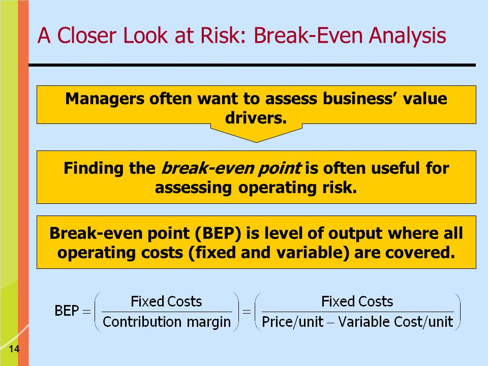 14 Managers often want to assess business value drivers.