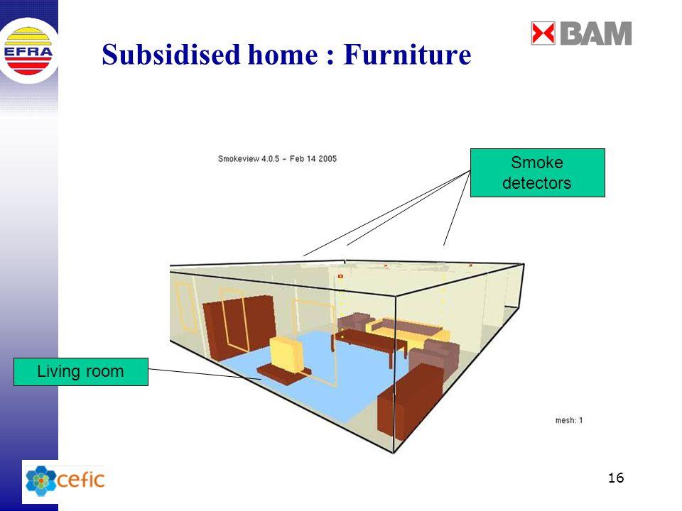 16 Subsidised home : Furniture Living room Smoke detectors