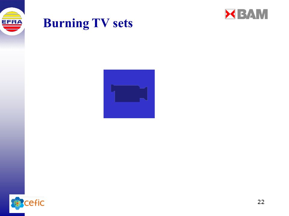 22 Burning TV sets