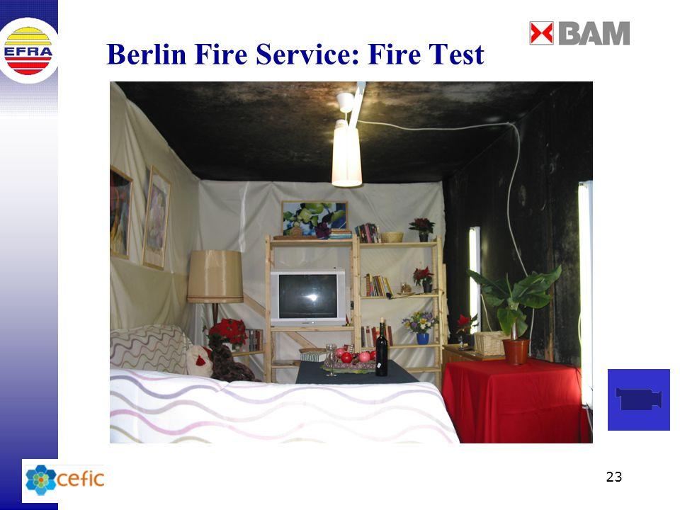 23 Berlin Fire Service: Fire Test