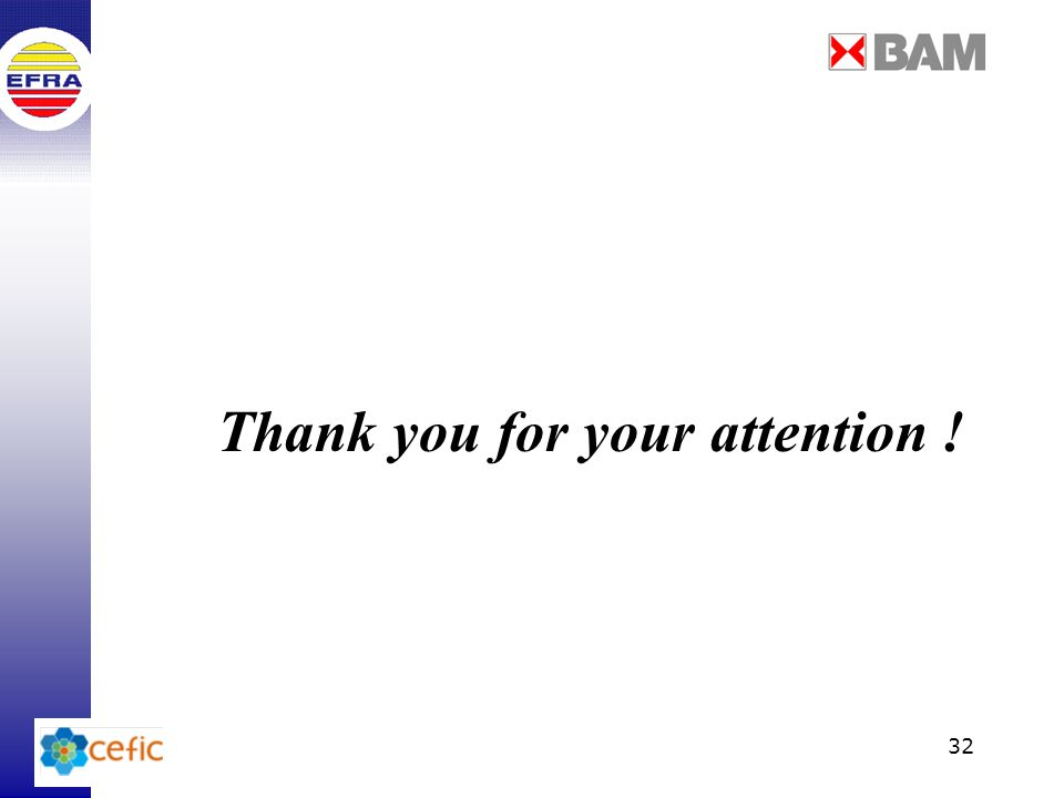 32 Thank you for your attention !