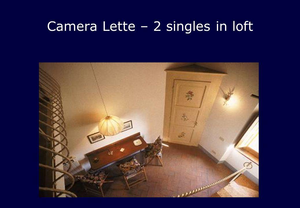 Camera Lette – 2 singles in loft